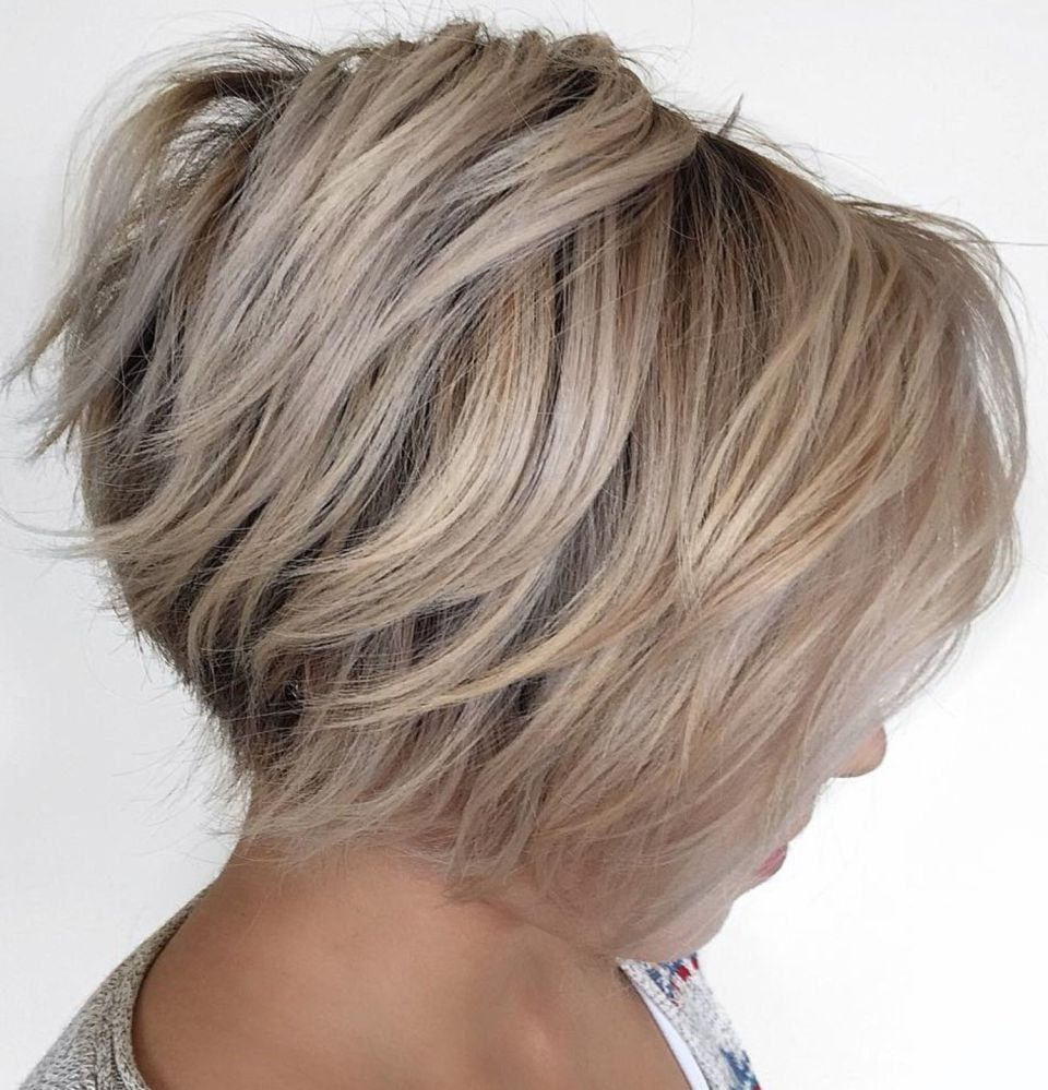 70 Cute And Easy To Style Short Layered Hairstyles | Hair Cuts With Regard To Dynamic Tousled Blonde Bob Hairstyles With Dark Underlayer (View 12 of 20)