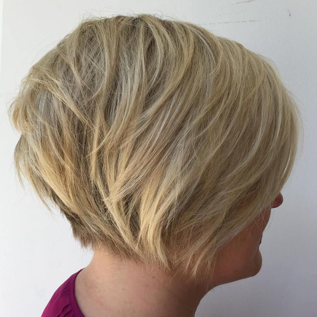 70 Cute And Easy To Style Short Layered Hairstyles | Hair With Nape Length Blonde Curly Bob Hairstyles (View 13 of 20)