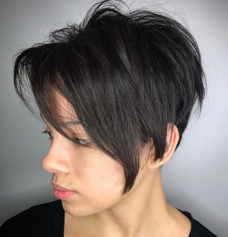70 Cute And Easy To Style Short Layered Hairstyles | Hair Within Layered Tapered Pixie Hairstyles For Thick Hair (Gallery 9 of 20)