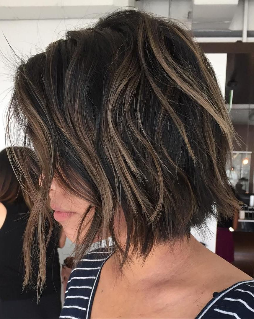 70 Cute And Easy To Style Short Layered Hairstyles In 2018 | Beauty In Straight Cut Bob Hairstyles With Layers And Subtle Highlights (Gallery 5 of 20)