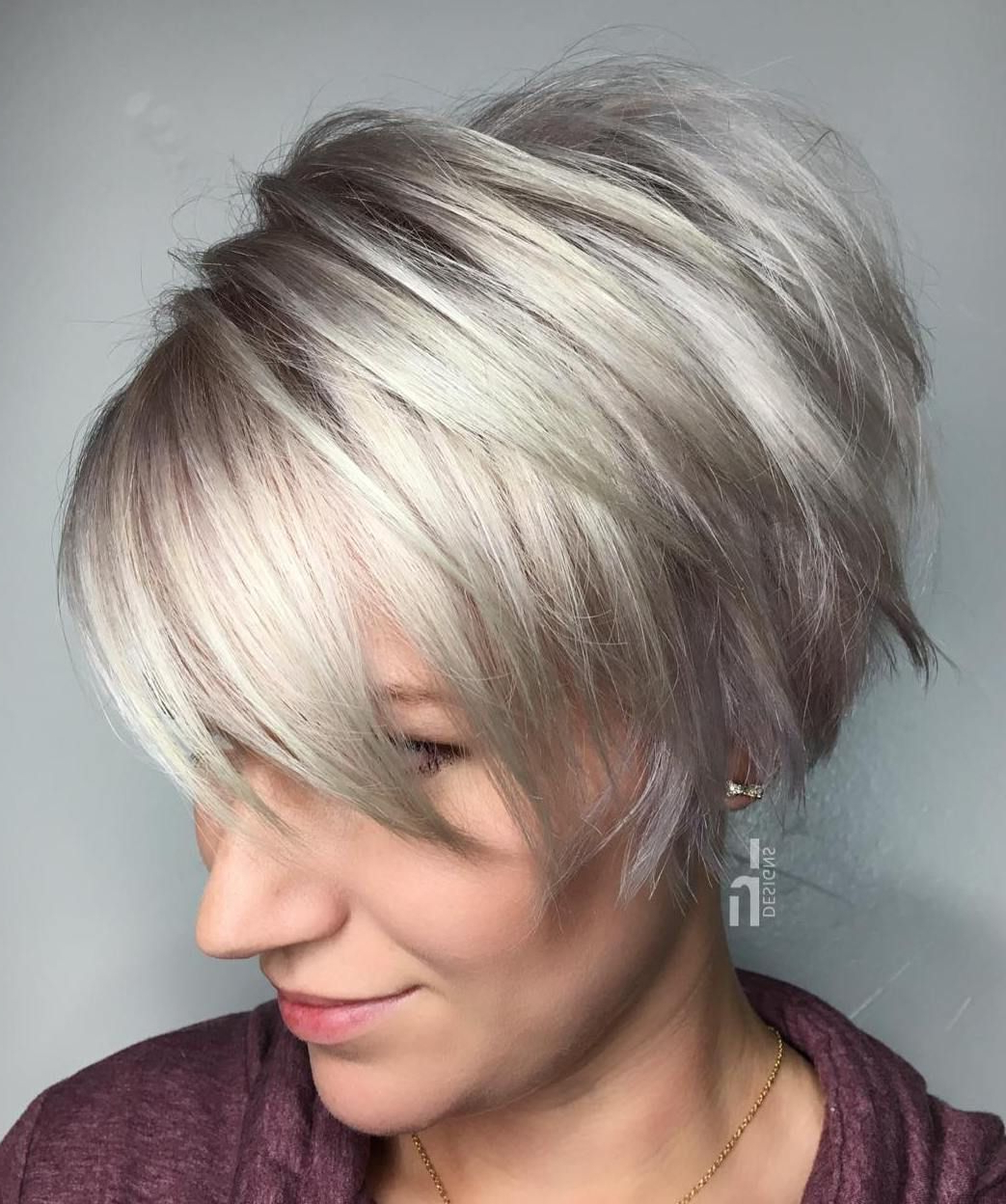 70 Cute And Easy To Style Short Layered Hairstyles In 2018 | Hair In Edgy Purple Tinted Pixie Haircuts (View 13 of 20)