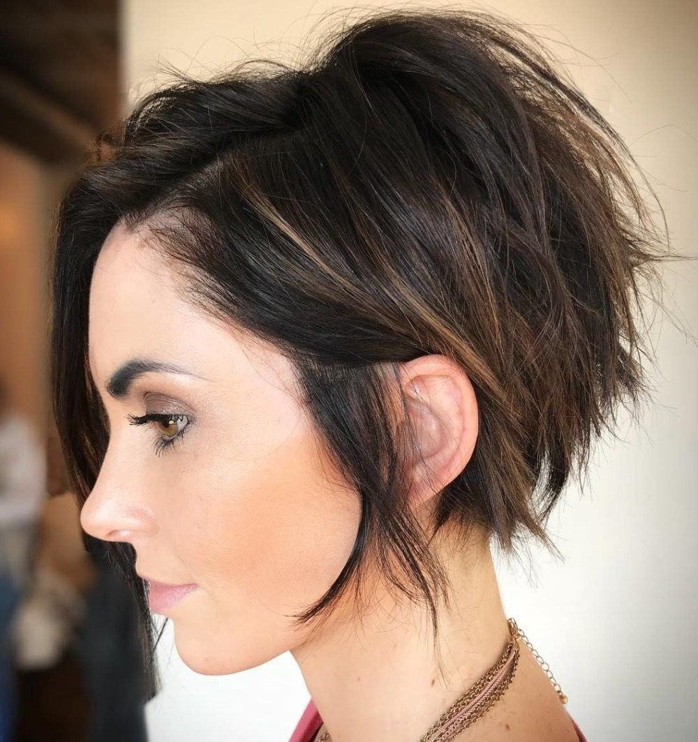 70 Cute And Easy To Style Short Layered Hairstyles In 2018 | Hair Inside Razored Pixie Bob Haircuts With Irregular Layers (View 17 of 20)