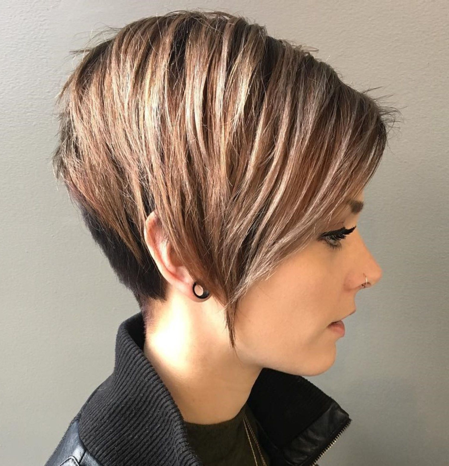 70 Cute And Easy To Style Short Layered Hairstyles In 2018 | Hair With Regard To Messy Pixie Haircuts With V Cut Layers (View 12 of 20)