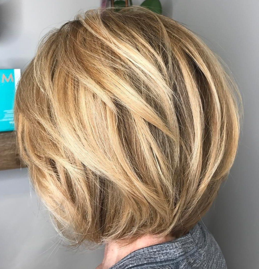 70 Cute And Easy To Style Short Layered Hairstyles | New Styles And Regarding Rounded Bob Hairstyles With Razored Layers (Gallery 9 of 20)