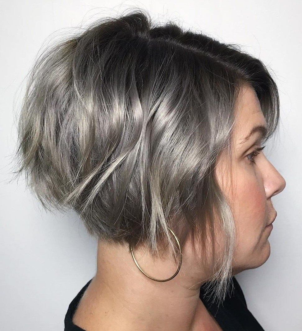 70 Cute And Easy To Style Short Layered Hairstyles | Pinterest With Regard To Black And Ash Blonde Pixie Bob Hairstyles (Gallery 5 of 20)