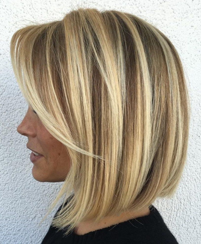 70 Darn Cool Medium Length Hairstyles For Thin Hair | Blonde Inside Silver Balayage Bob Haircuts With Swoopy Layers (View 18 of 20)