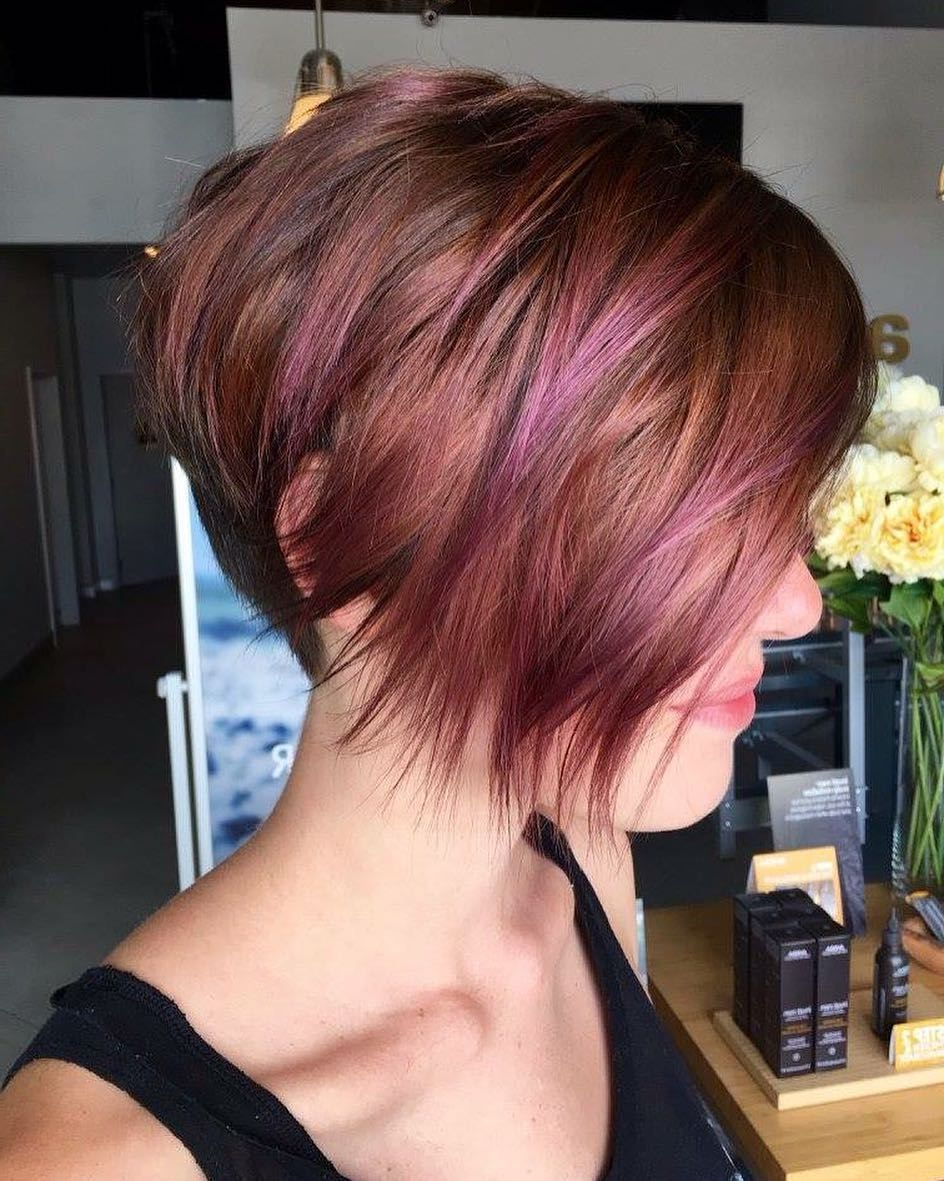 70 Devastatingly Cool Haircuts For Thin Hair | Pinterest | Red Pixie Intended For Highlighted Pixie Bob Hairstyles With Long Bangs (View 10 of 20)