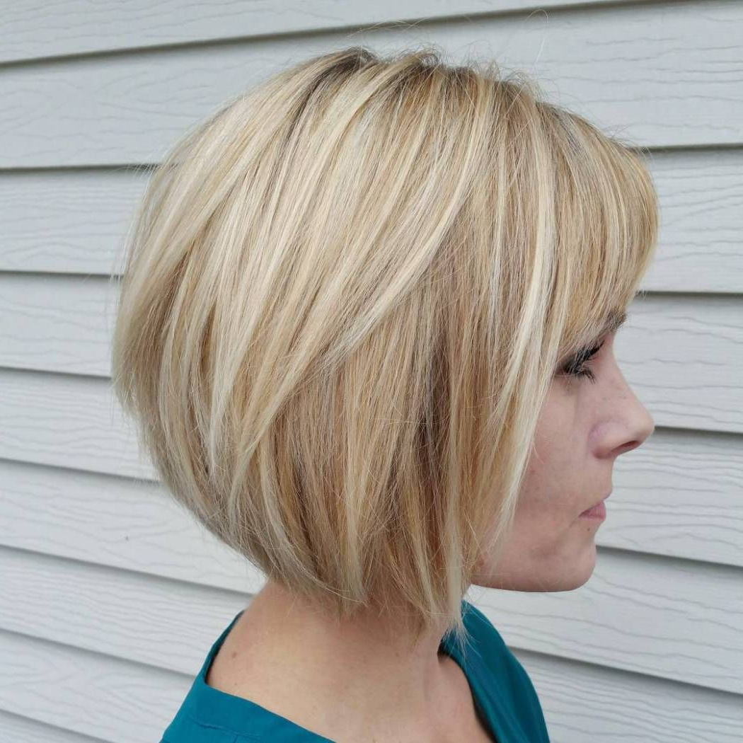 70 Fabulous Choppy Bob Hairstyles | Blonde Layers, Caramel Blonde For Caramel Blonde Rounded Layered Bob Hairstyles (View 2 of 20)