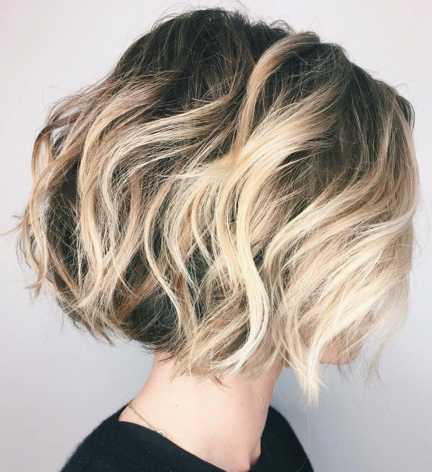 70 Fabulous Choppy Bob Hairstyles | Hairstyles | Pinterest | Hair Regarding High Contrast Blonde Balayage Bob Hairstyles (Gallery 1 of 20)
