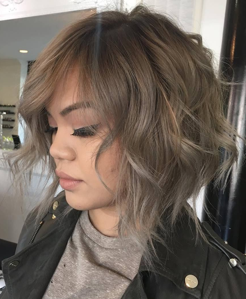 70 Fabulous Choppy Bob Hairstyles In 2018 | Eh | Pinterest | Hair Pertaining To Golden Brown Thick Curly Bob Hairstyles (View 17 of 20)