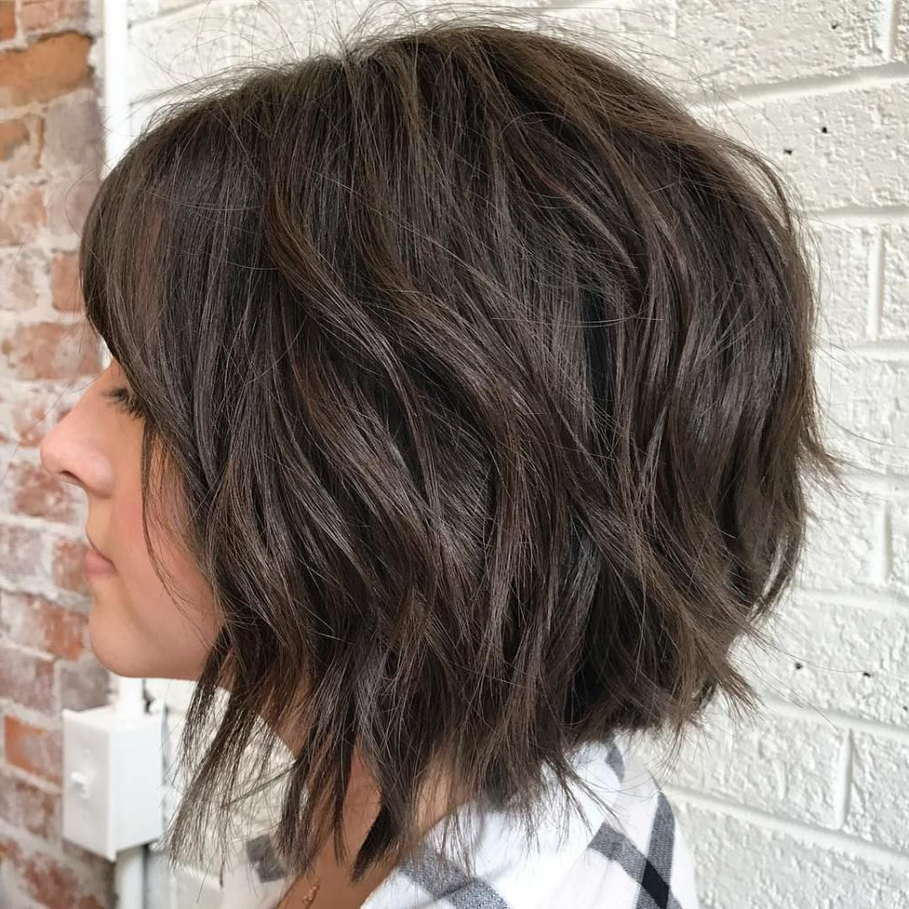 70 Fabulous Choppy Bob Hairstyles In 2018 | Good Hair!!! | Pinterest With Black Inverted Bob Hairstyles With Choppy Layers (View 12 of 20)