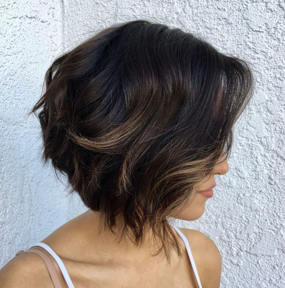 70 Fabulous Choppy Bob Hairstyles In 2018 | Sheer Style | Pinterest Pertaining To Disheveled Brunette Choppy Bob Hairstyles (View 20 of 20)