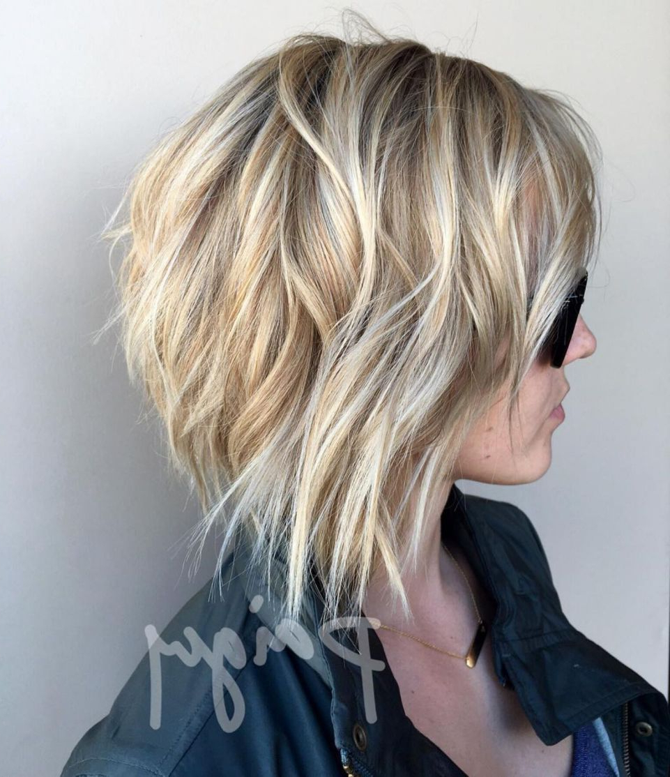 70 Fabulous Choppy Bob Hairstyles | Longer Bob Hairstyles Throughout Hazel Blonde Razored Bob Hairstyles (Gallery 18 of 20)