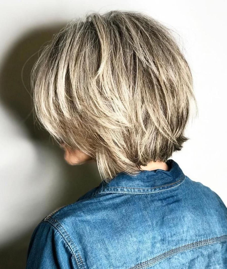 70 Fabulous Choppy Bob Hairstyles | Włosy | Pinterest | Blonde With Regard To Dynamic Tousled Blonde Bob Hairstyles With Dark Underlayer (View 13 of 20)