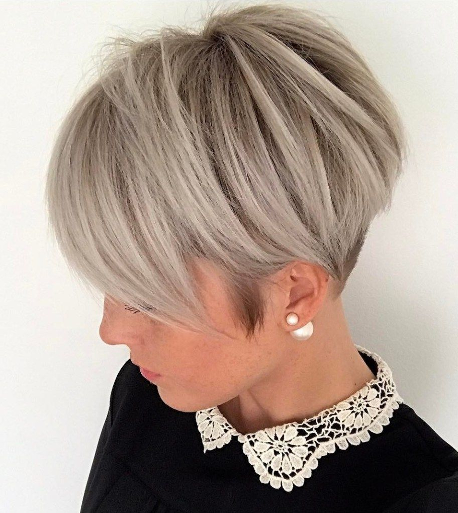 70 Short Shaggy, Spiky, Edgy Pixie Cuts And Hairstyles | Blonde In Ash Blonde Undercut Pixie Haircuts (Gallery 1 of 20)