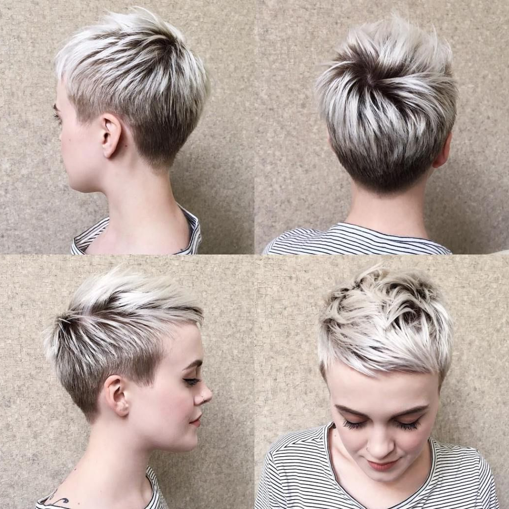70 Short Shaggy, Spiky, Edgy Pixie Cuts And Hairstyles | Blonde In Edgy Pixie Haircuts With Long Angled Layers (View 17 of 20)