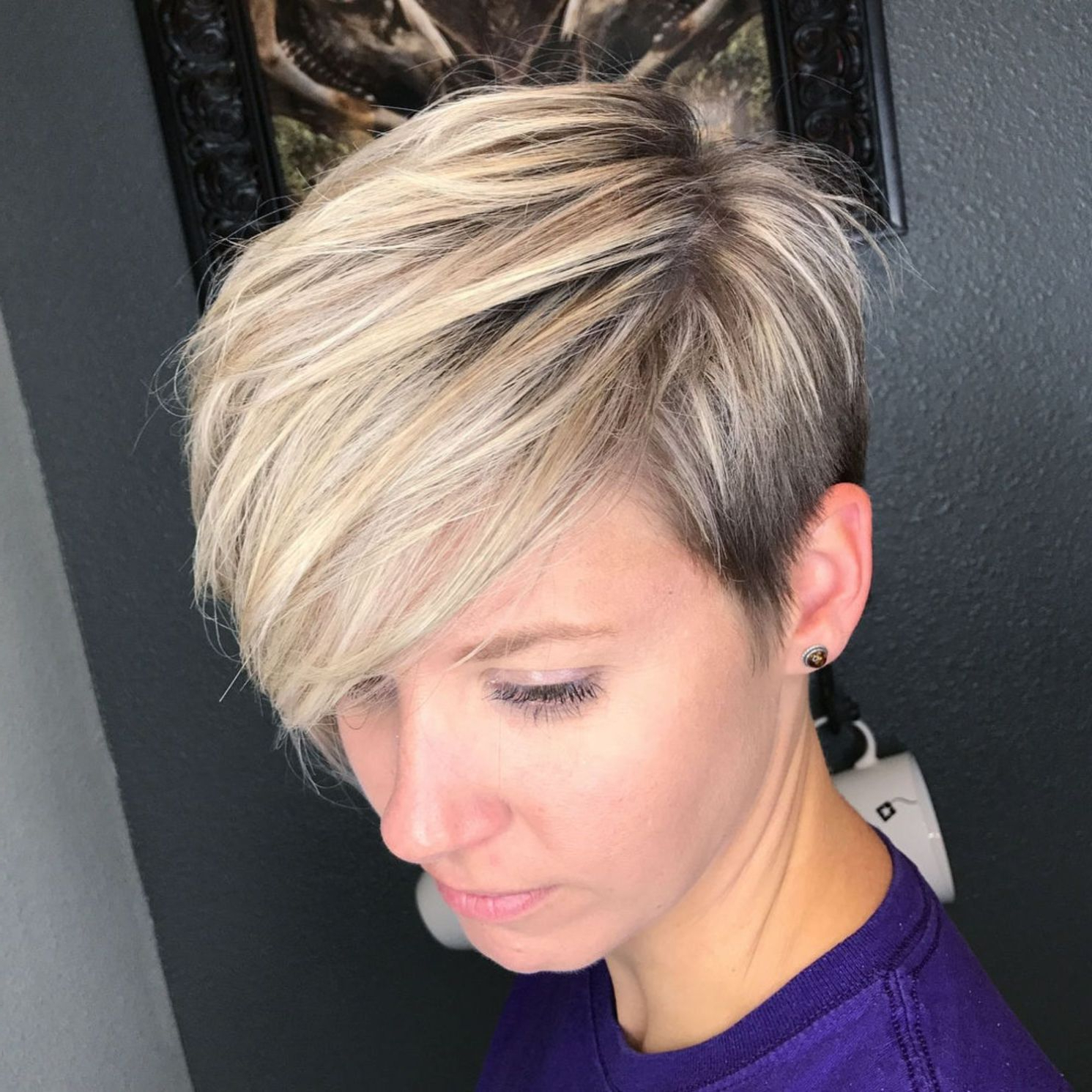 70 Short Shaggy, Spiky, Edgy Pixie Cuts And Hairstyles In 2018 For Bronde Balayage Pixie Haircuts With V Cut Nape (View 10 of 20)