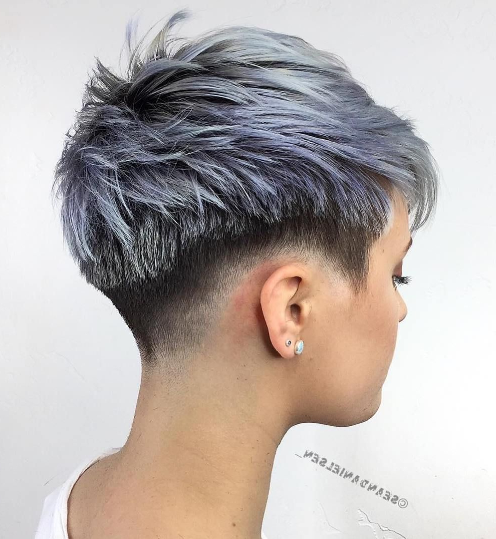 70 Short Shaggy, Spiky, Edgy Pixie Cuts And Hairstyles In 2018 Regarding Edgy Purple Tinted Pixie Haircuts (View 14 of 20)