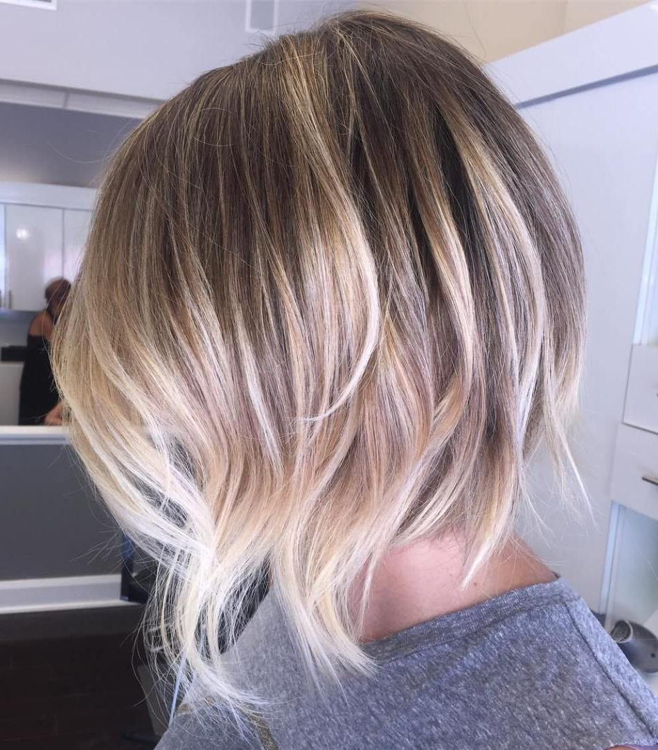 70 Winning Looks With Bob Haircuts For Fine Hair | Blonde Balayage Intended For Balayage Bob Haircuts With Layers (Gallery 12 of 20)