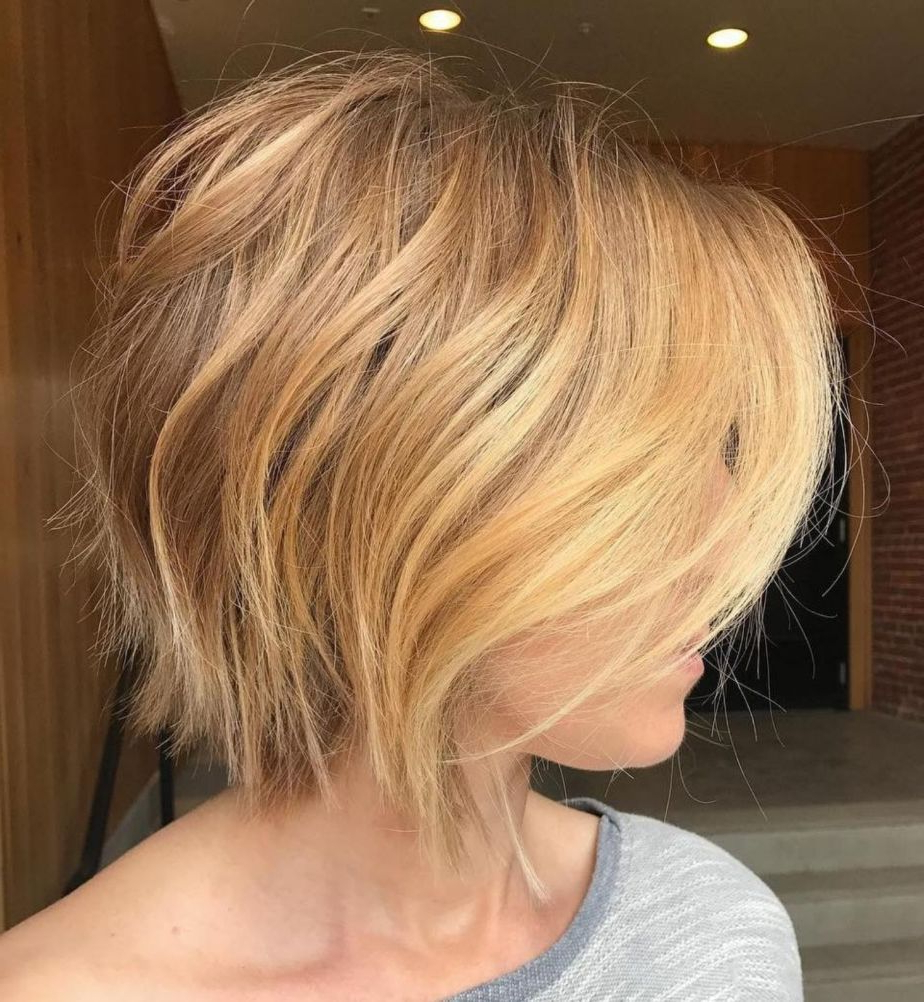 70 Winning Looks With Bob Haircuts For Fine Hair In 2018 | Women's In Hazel Blonde Razored Bob Hairstyles (View 17 of 20)