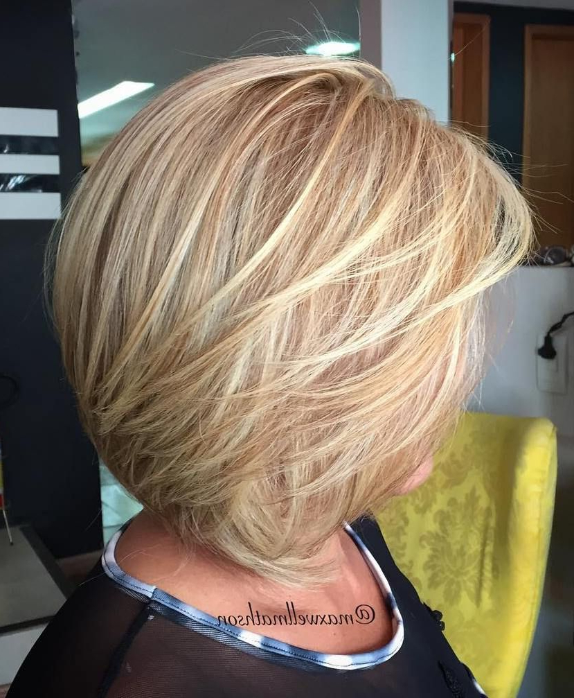 80 Best Modern Haircuts And Hairstyles For Women Over 50 | Hair With Regard To Caramel Blonde Rounded Layered Bob Hairstyles (View 6 of 20)