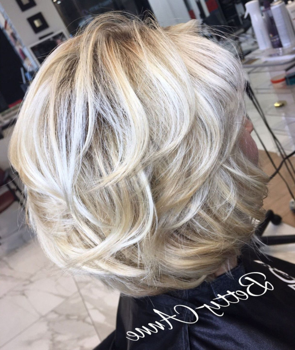 80 Best Modern Haircuts And Hairstyles For Women Over 50 In 2018 Intended For Dynamic Tousled Blonde Bob Hairstyles With Dark Underlayer (Gallery 18 of 20)