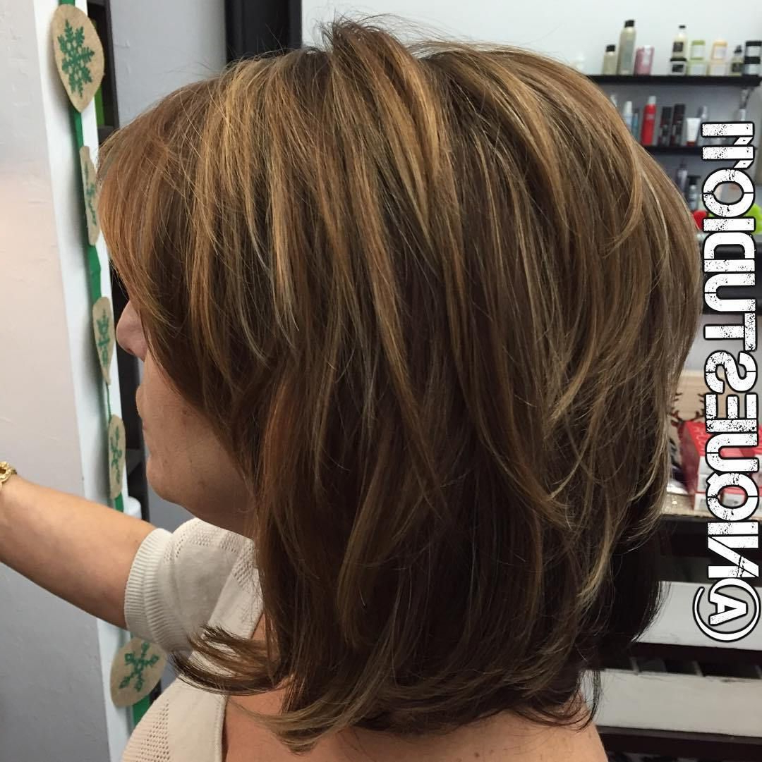 80 Best Modern Haircuts And Hairstyles For Women Over 50 In 2018 With Regard To Inverted Bob Hairstyles With Swoopy Layers (View 9 of 20)