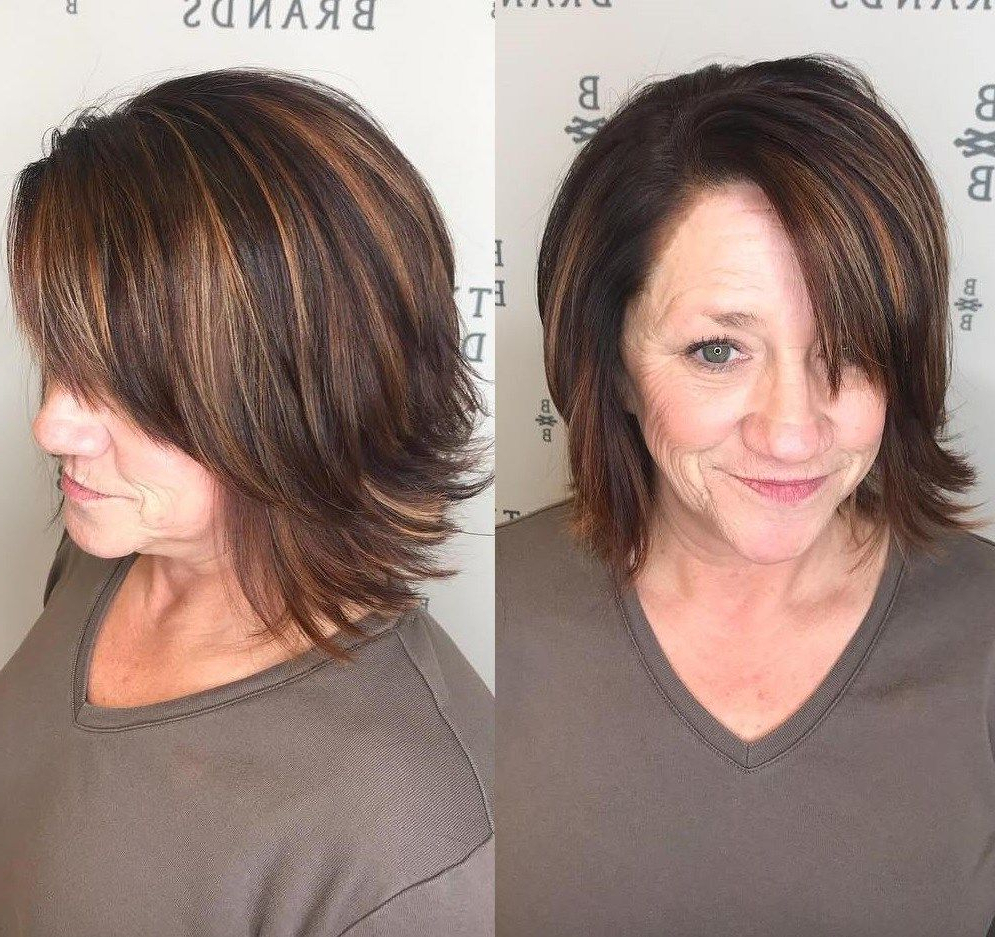 80 Best Modern Haircuts And Hairstyles For Women Over 50 | Long Hair Inside Short Hairstyles With Flicks (View 8 of 20)
