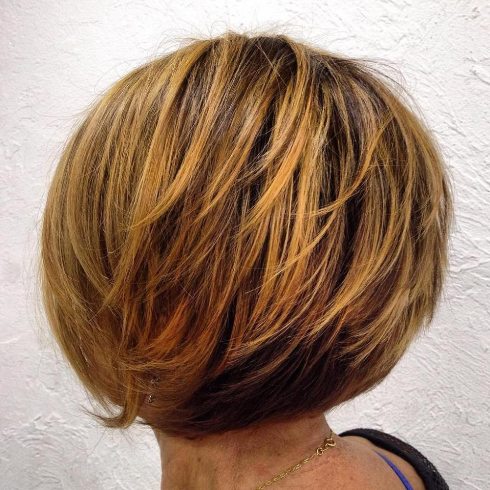 80 Best Modern Haircuts And Hairstyles For Women Over 50 | Pinterest Regarding Layered Balayage Bob Hairstyles (View 14 of 20)