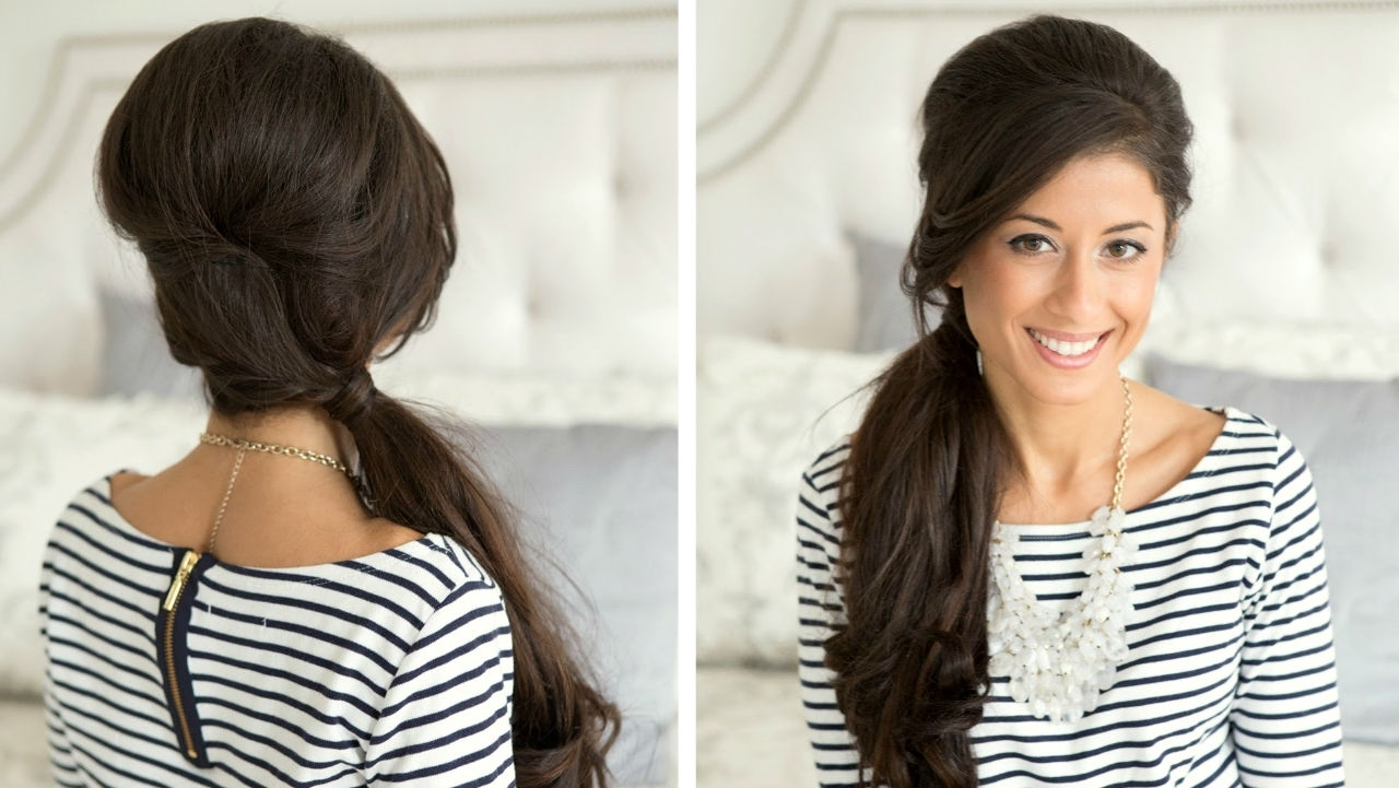 9 Sexy Hairstyle Ideas For Girls With Long Hair Within Well Known Creative Side Ponytail Hairstyles (Gallery 14 of 20)