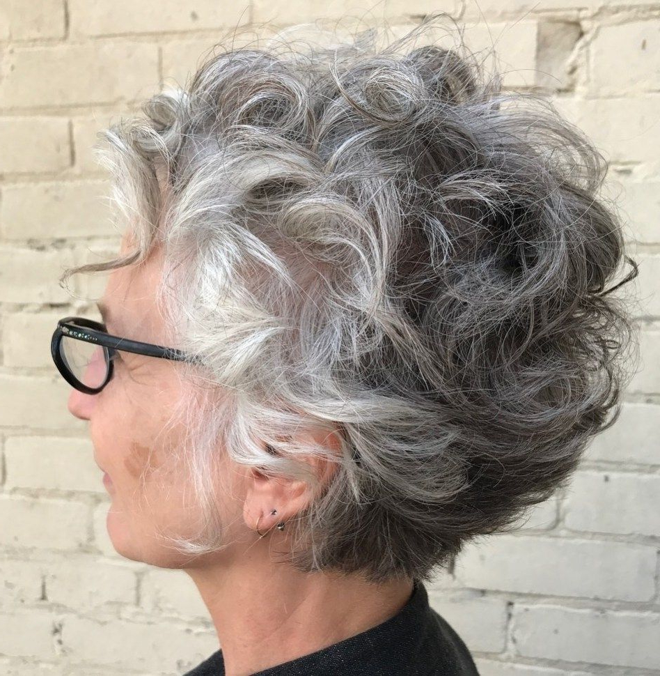 90 Classy And Simple Short Hairstyles For Women Over 50 | Grey With Regard To Curly Grayhairstyles (View 4 of 20)