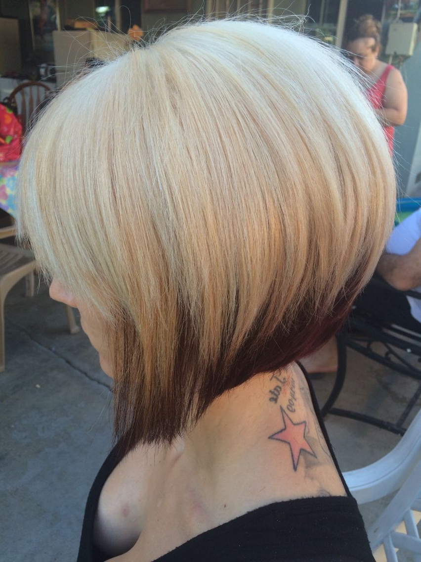 A Line Bob Two Toned Hair … | Projects To Try In 2018… Within Two Tone Stacked Pixie Bob Haircuts (Gallery 7 of 20)