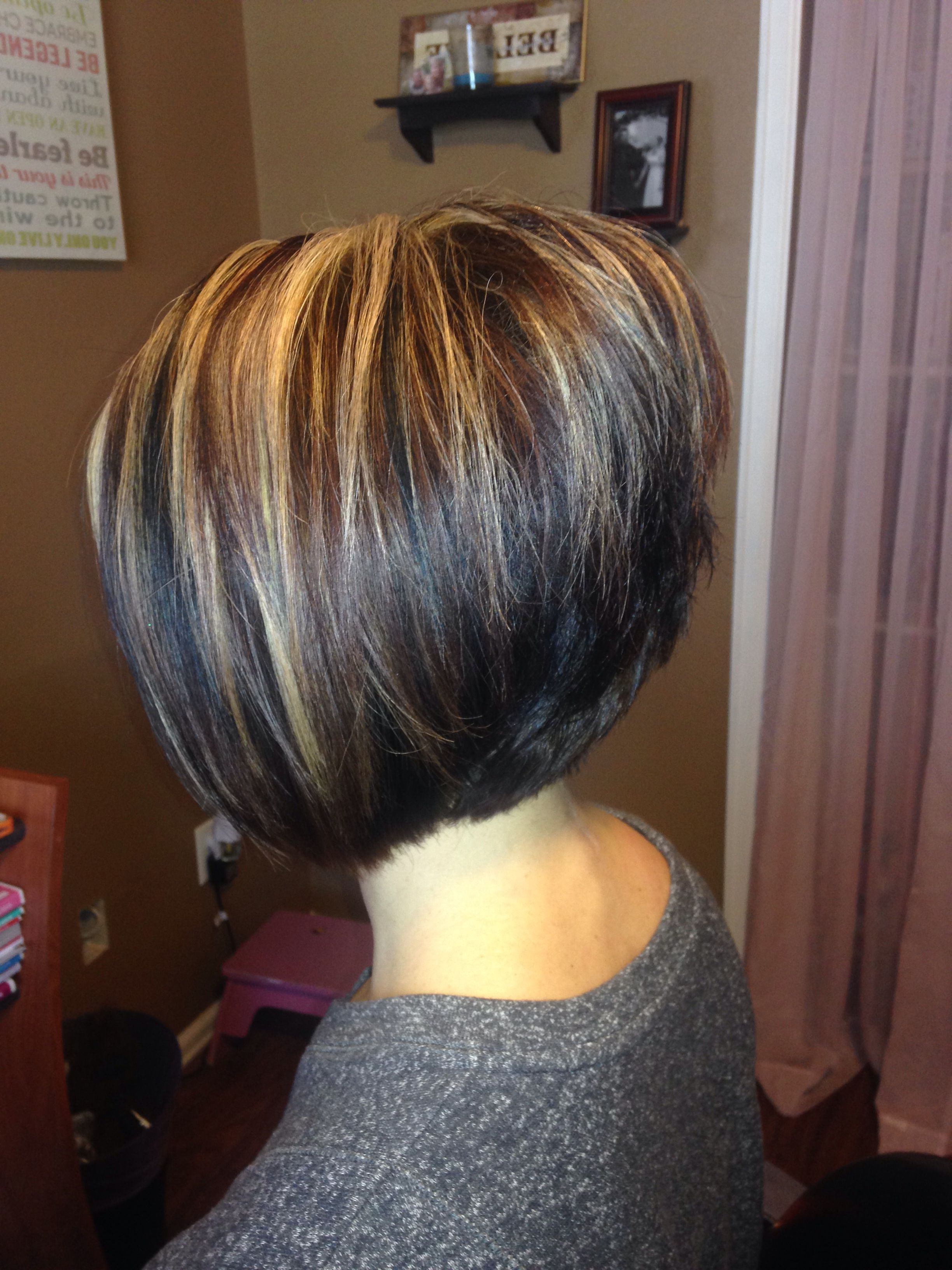 A Line Stacked Bob | Hair | Pinterest | Stacked Bobs, Bobs And Hair Cuts With Regard To Stacked Bob Hairstyles With Highlights (View 4 of 20)