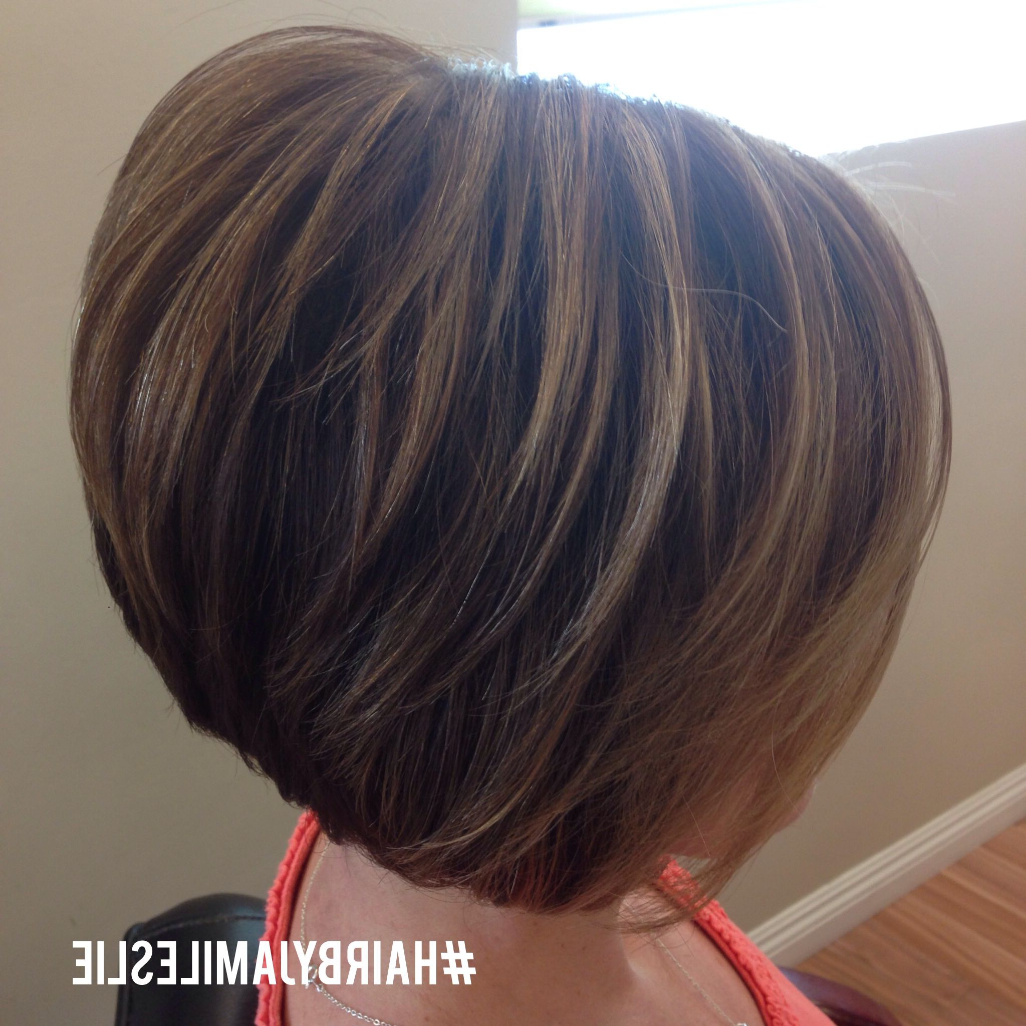 Adorable Short Stacked Bob (View 5 of 20)