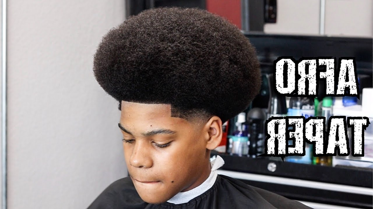 Afro Shape Up Taper Barber Tutorial Learn How To Cut A Fro – Youtube Within Tapered Bowl Cut Hairstyles (View 16 of 20)
