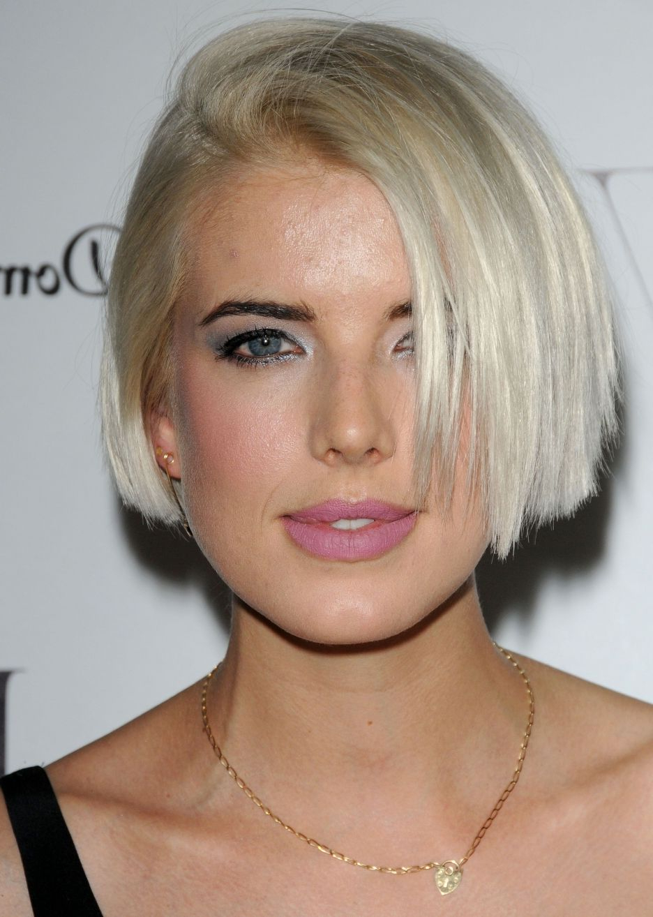 Agyness Deyn Short Bob. Blunt Straight Cut (View 13 of 20)
