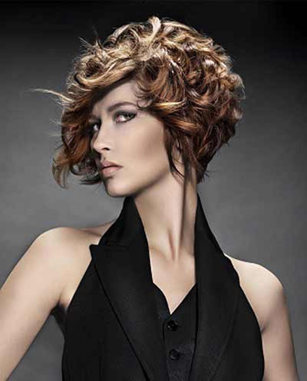 Asymmetrical Short Curly Hair Styles 2018 2019 & Short Bob Haircuts Within Short Bob For Curly Hairstyles (Gallery 14 of 20)