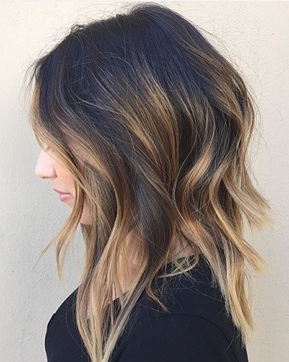 Asymmetrical Short Haircuts With Balayage Highlights 2018 – 2019 Within Short Crop Hairstyles With Colorful Highlights (Gallery 16 of 20)