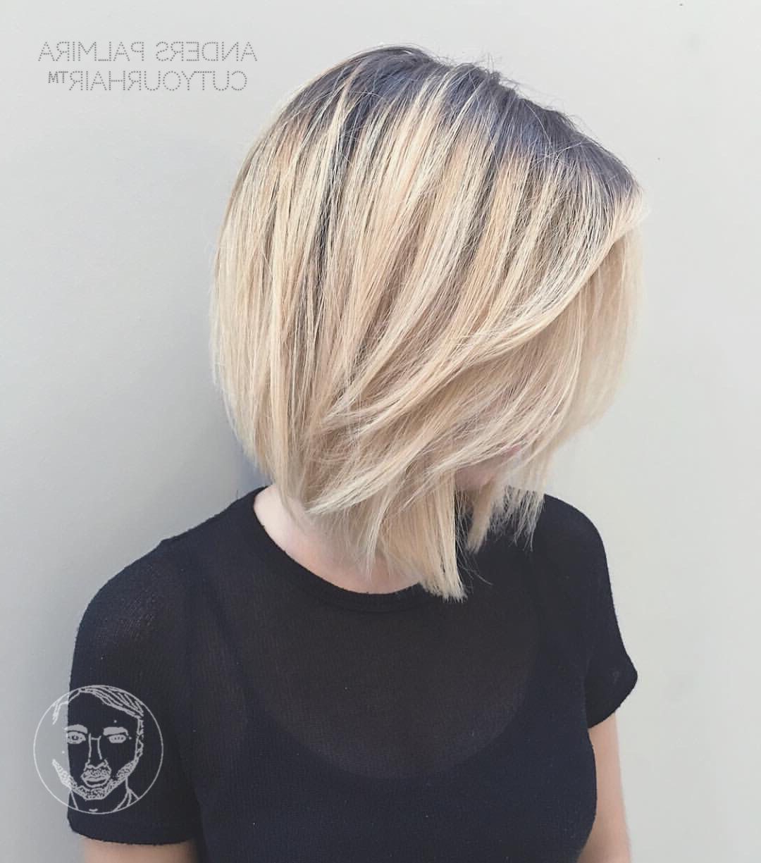 Aveda Wavy Long Blonde Bob Short Hair Beach Wave Medium Ideas Lob With Regard To Nape Length Curly Balayage Bob Hairstyles (View 16 of 20)