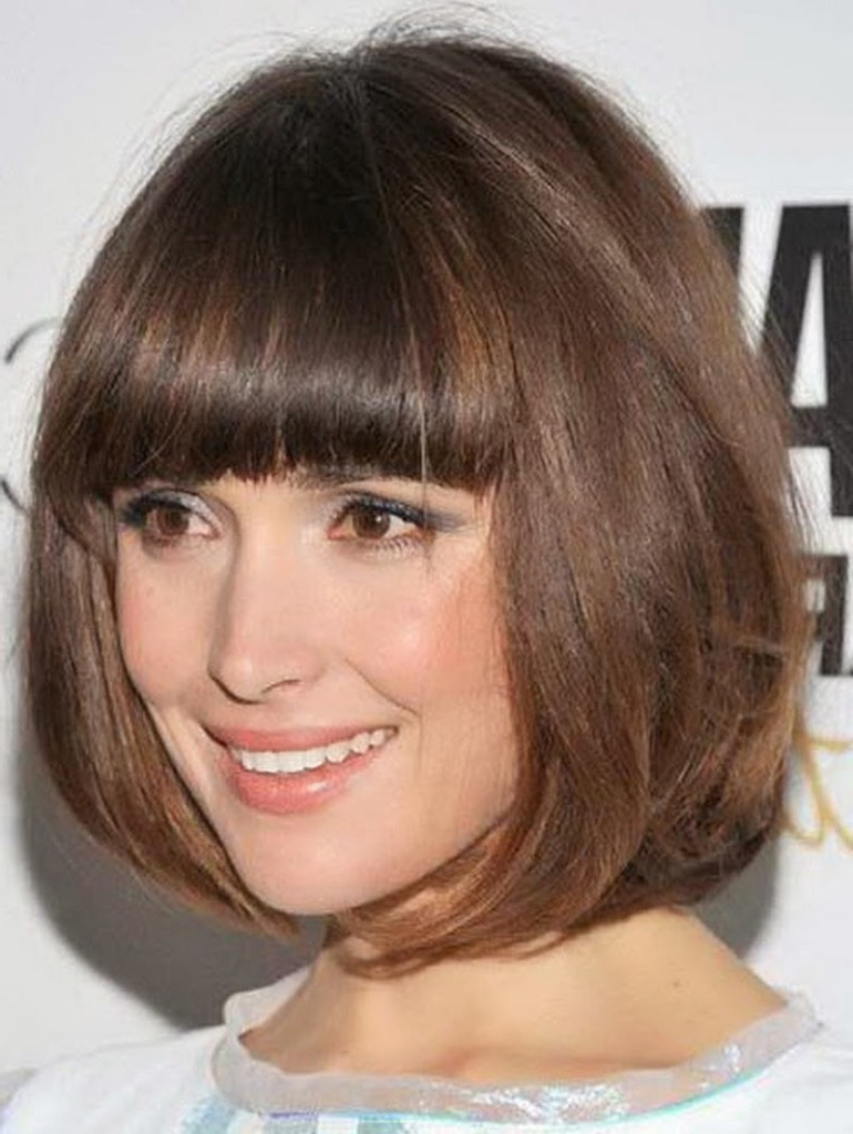 Bang Bob Hairstyles New French Bob Haircut With Bangs Natural For Rounded Bob Hairstyles With Side Bangs (View 8 of 20)