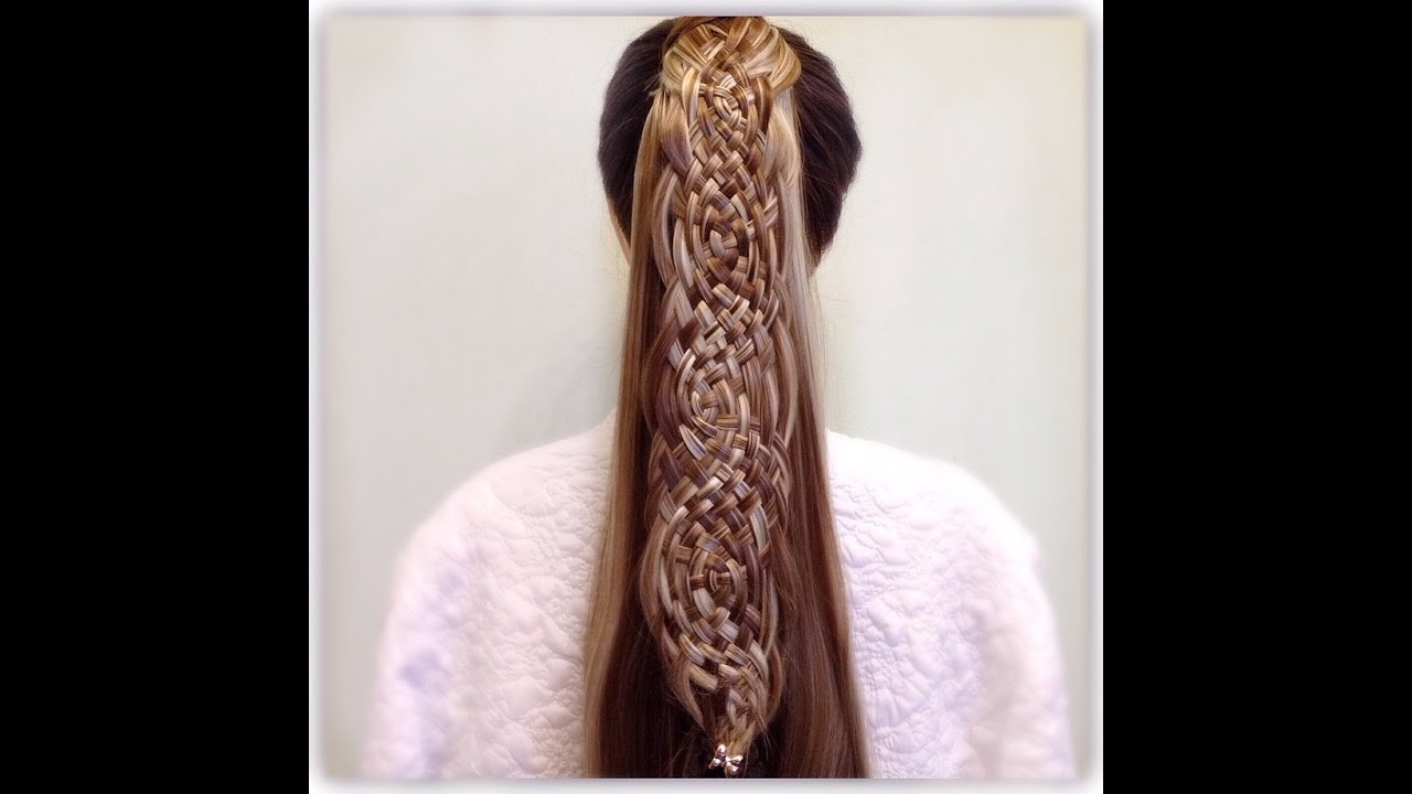 Basket Weave Braid Ponytail – Youtube In Newest Fantastical French Braid Ponytail Hairstyles (View 2 of 20)