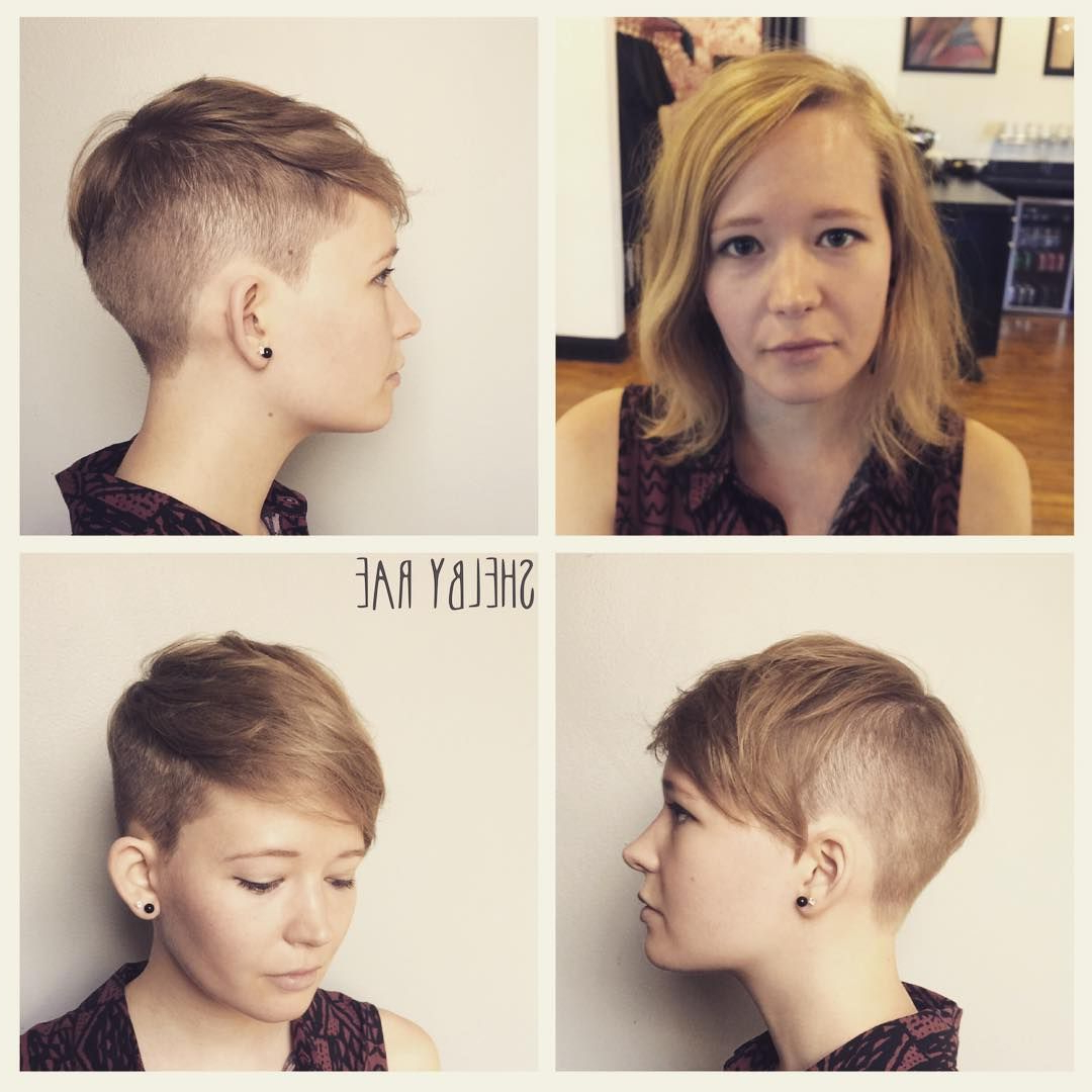 Before And After!! Convertible Disconnected Pixie, Undercut All The With Disconnected Pixie Hairstyles For Short Hair (View 10 of 20)