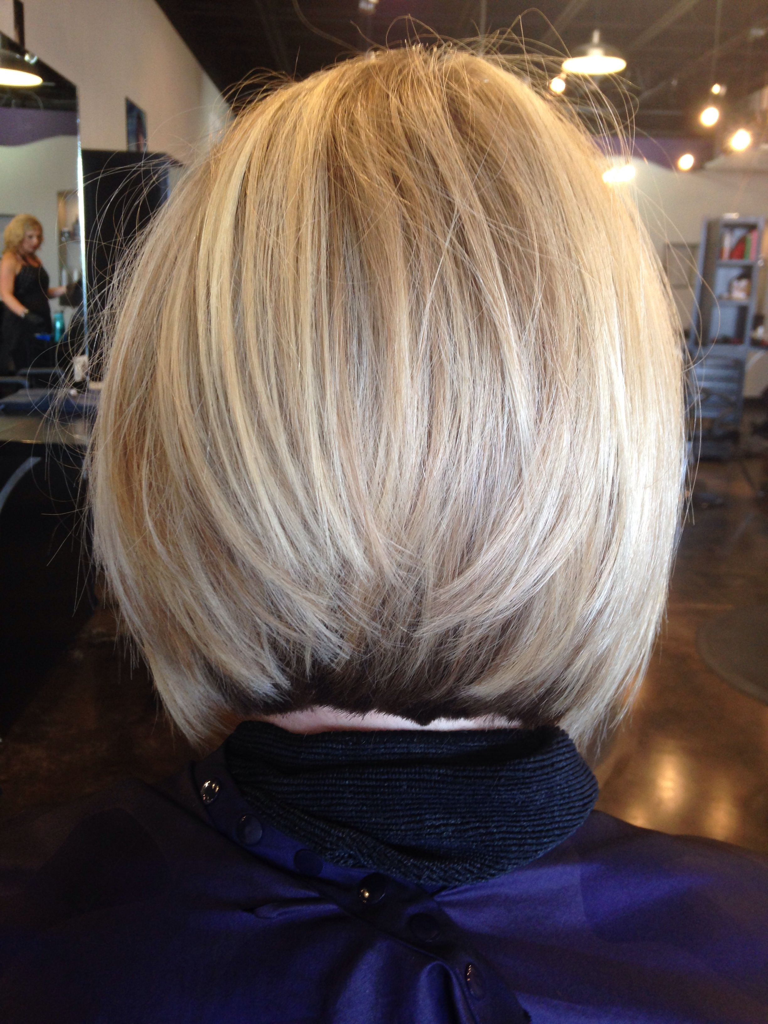 Beige Blonde Stacked Bob | Pin It Like 2 Image | I Love My Hair In With Regard To Short Blonde Inverted Bob Haircuts (View 2 of 20)