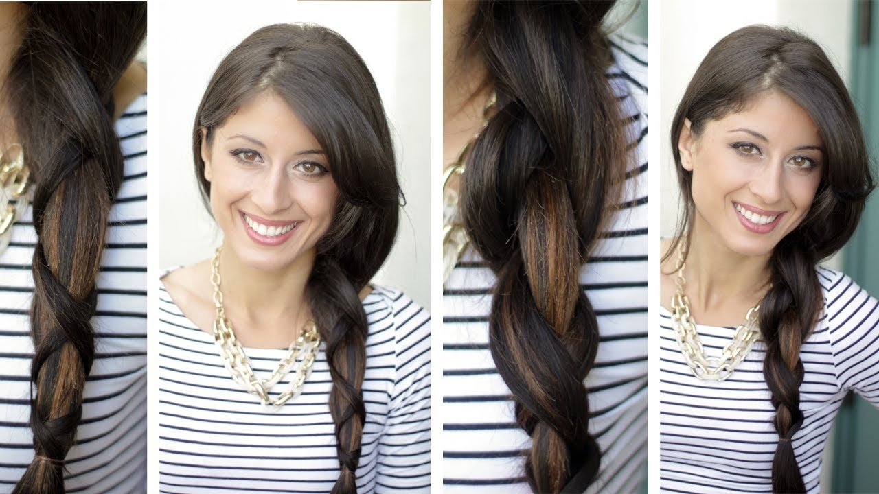 Best And Newest Criss Cross Side Ponytails Throughout Criss Cross Braid – Youtube (View 2 of 20)