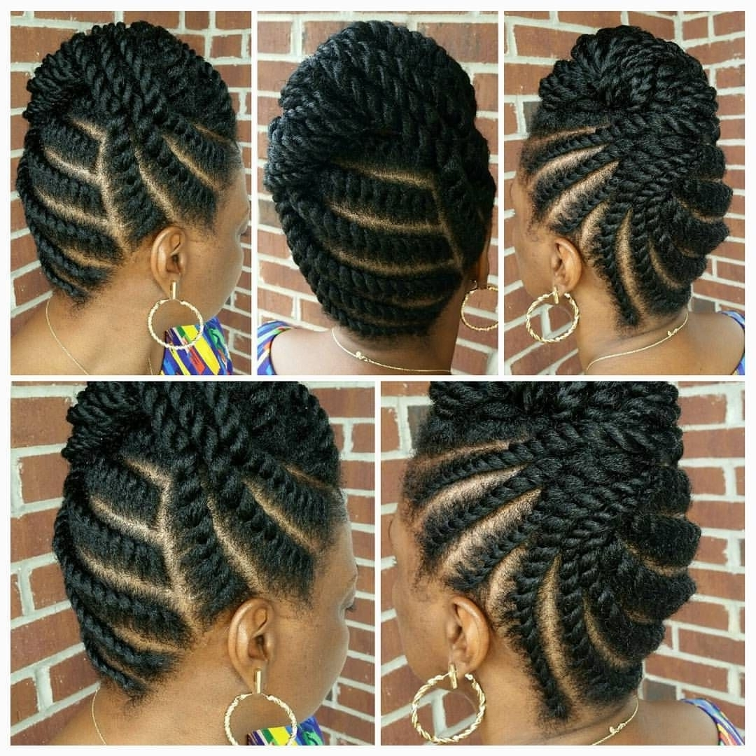 """Best And Newest Regal Braided Up Do Ponytail Hairstyles Inside Divine Oasis Salon & Spa On Instagram: """"regal Flat Twisted Updo (View 6 of 20)"""