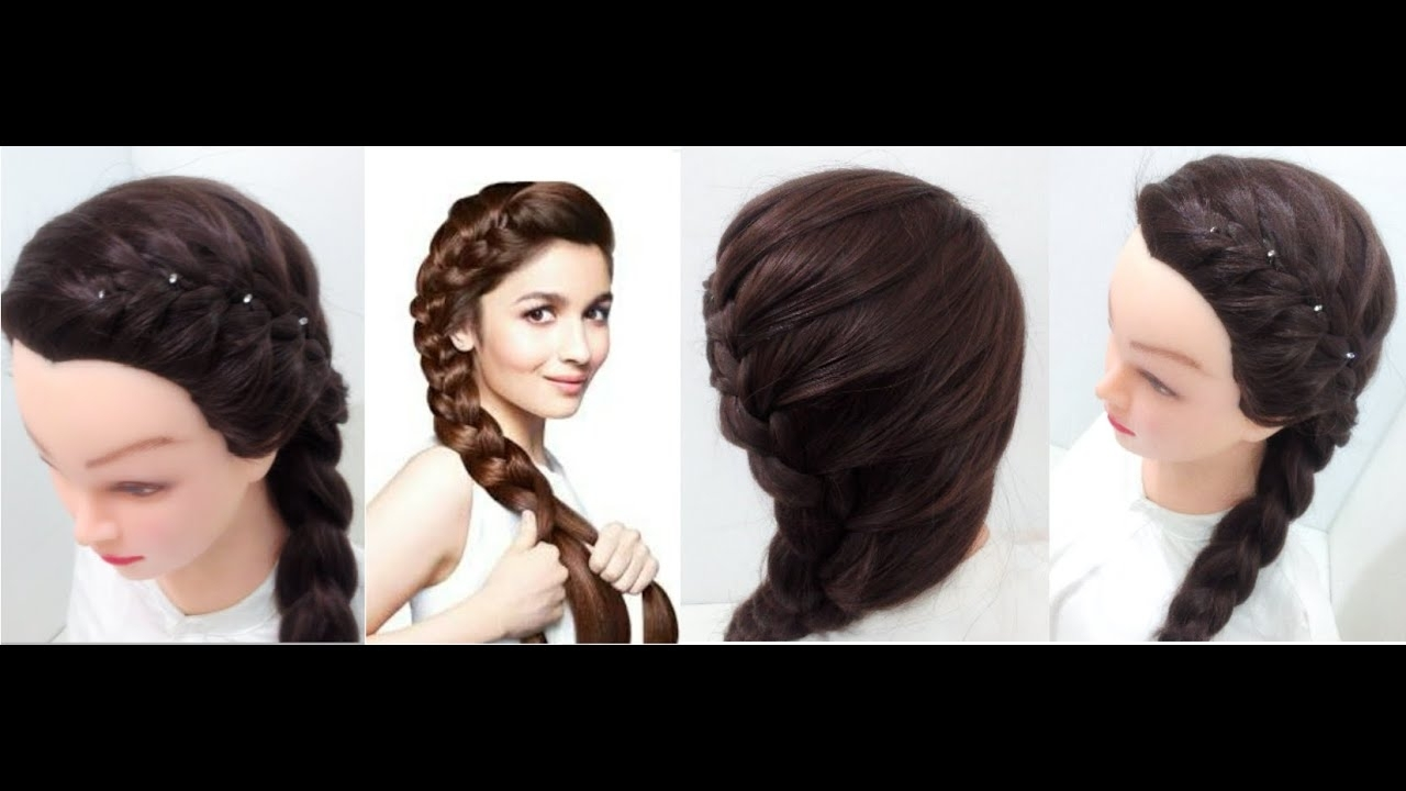 Best And Newest Side Braid Ponytails For Medium Hair Inside Side Braid: Hairstyles For Medium Hair – Youtube (View 5 of 20)
