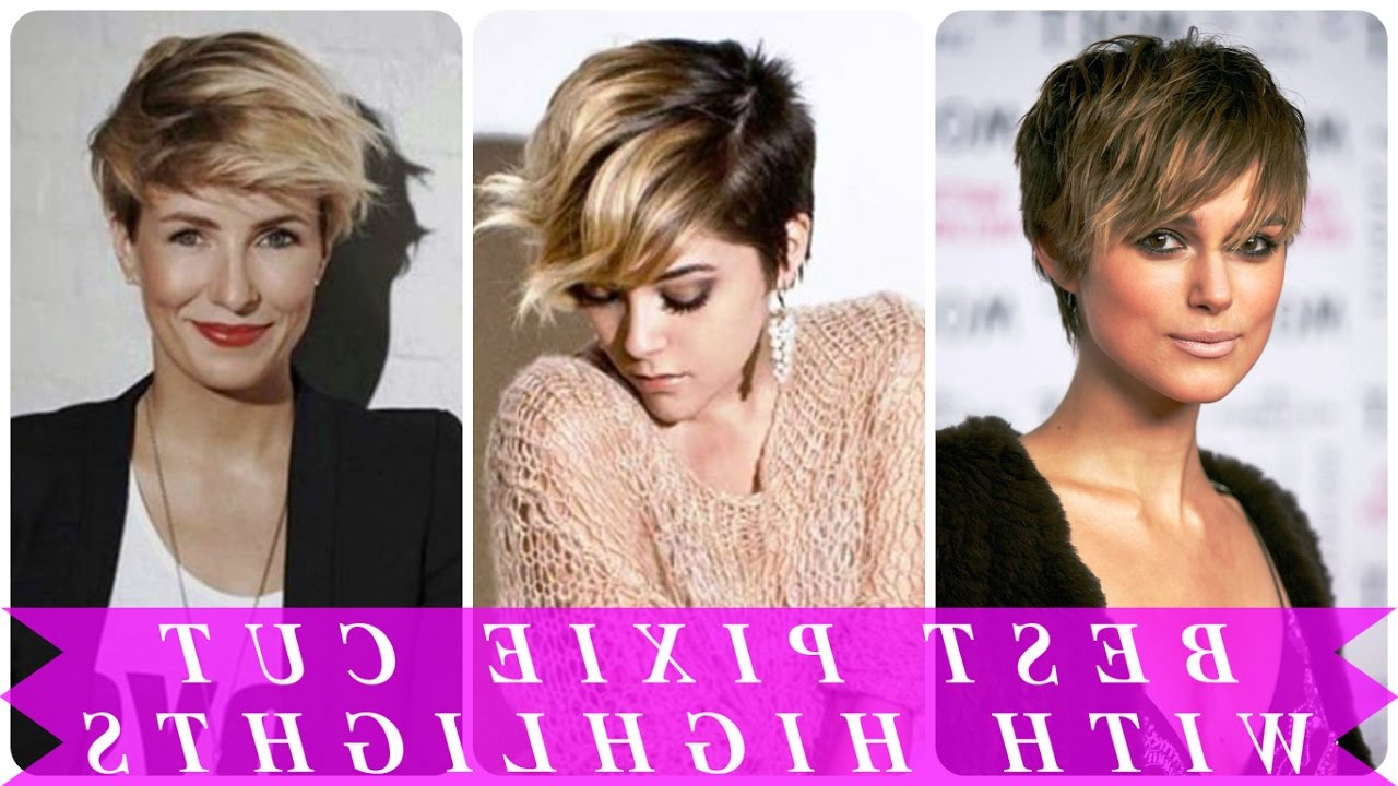 Best Pixie Cut With Highlights – Youtube Intended For Highlighted Pixie Bob Hairstyles With Long Bangs (Gallery 16 of 20)