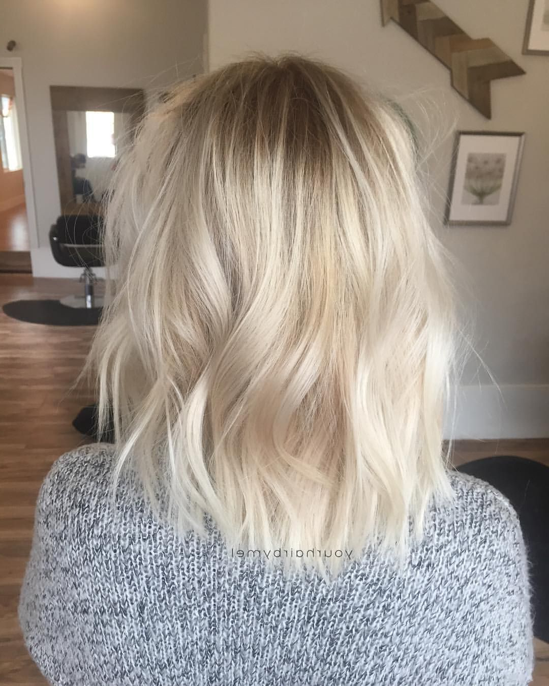 Bleached Grow Out Softened With An 8n At Root And A Bit Of Balayage Throughout Long Blonde Pixie Haircuts With Root Fade (View 5 of 20)