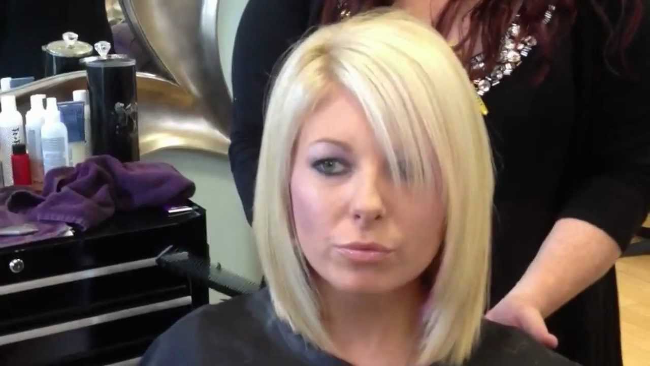 Blonde Layered Bob Haircut – Youtube Pertaining To Tousled Razored Bob Hairstyles (View 15 of 20)