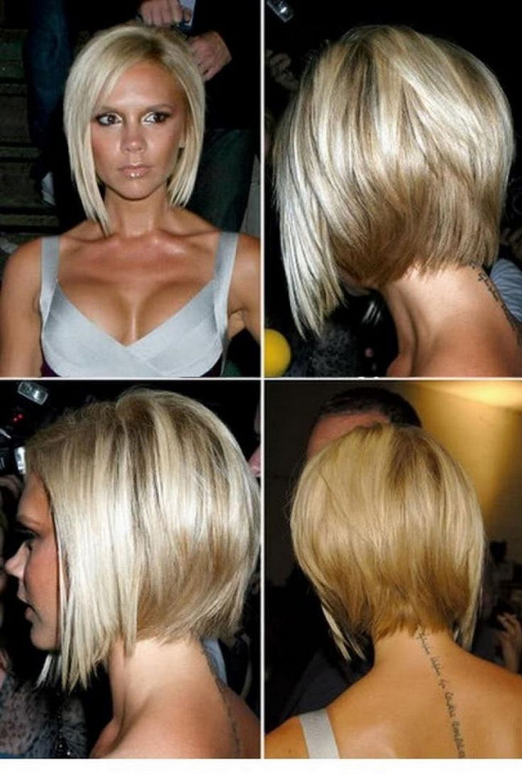 Bob Haircuts Back View Long Hair Stacked Bob Hairstyles Front Back Inside Short Tapered Bob Hairstyles With Long Bangs (View 10 of 20)
